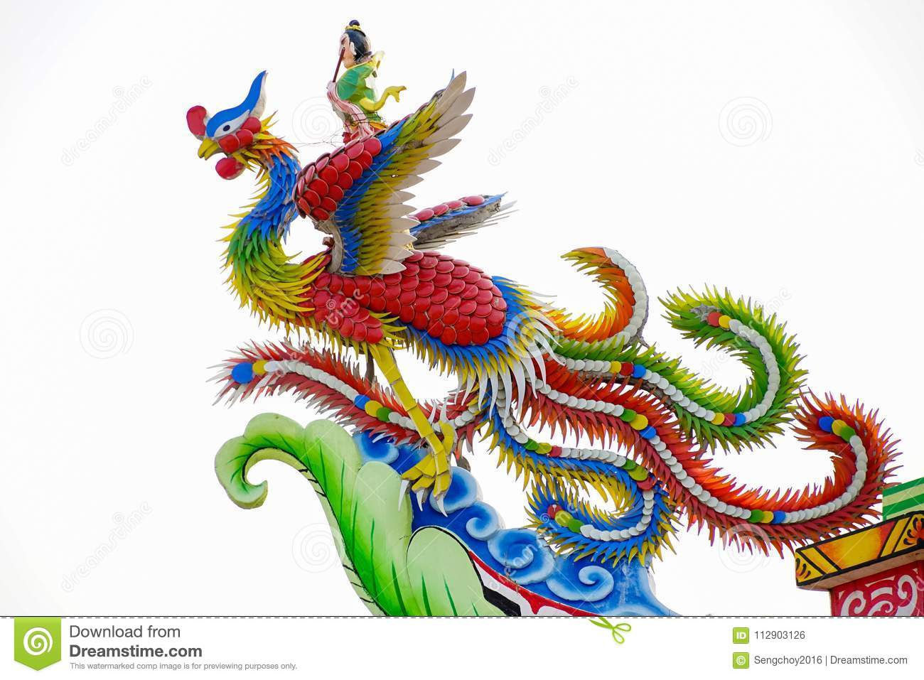 Taoism Symbols Dragon: Statue Of Chinese Dragon Stock Photo. Image Of Background