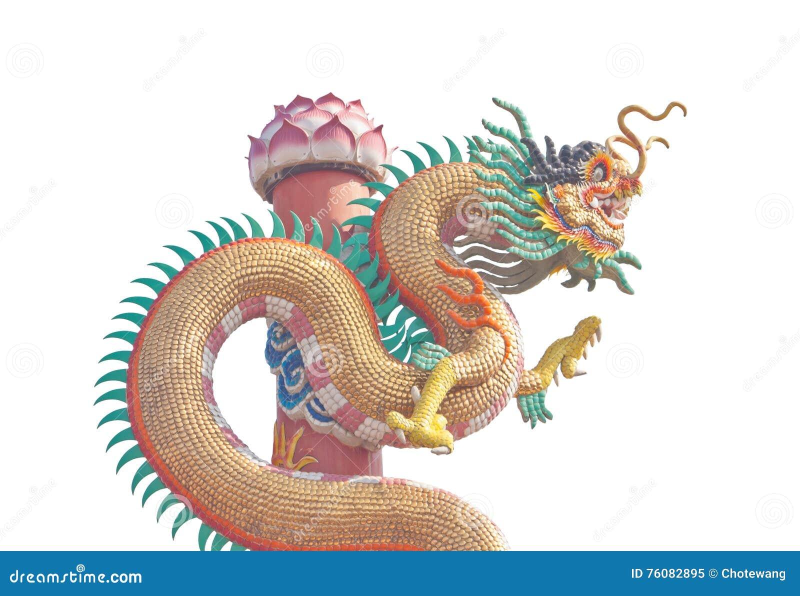 Statue chinoise de dragon