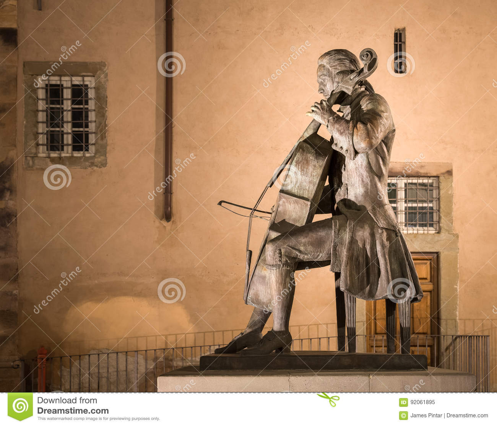 Statue of Composer and Cellist Luigi Boccherini