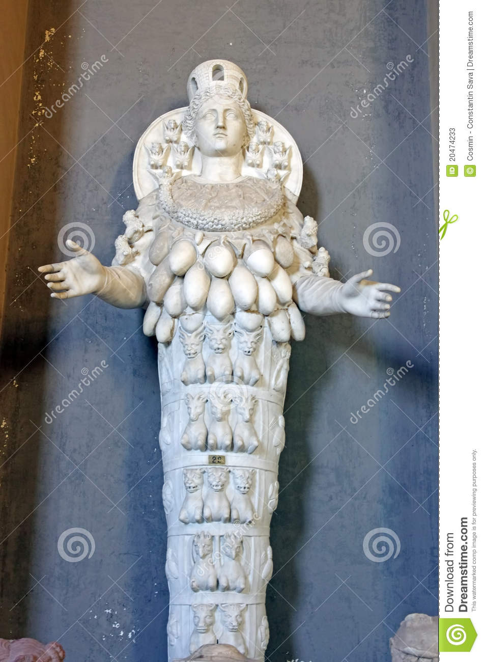 Statue Of Cybele - Goddess Of Fertility Editorial Stock