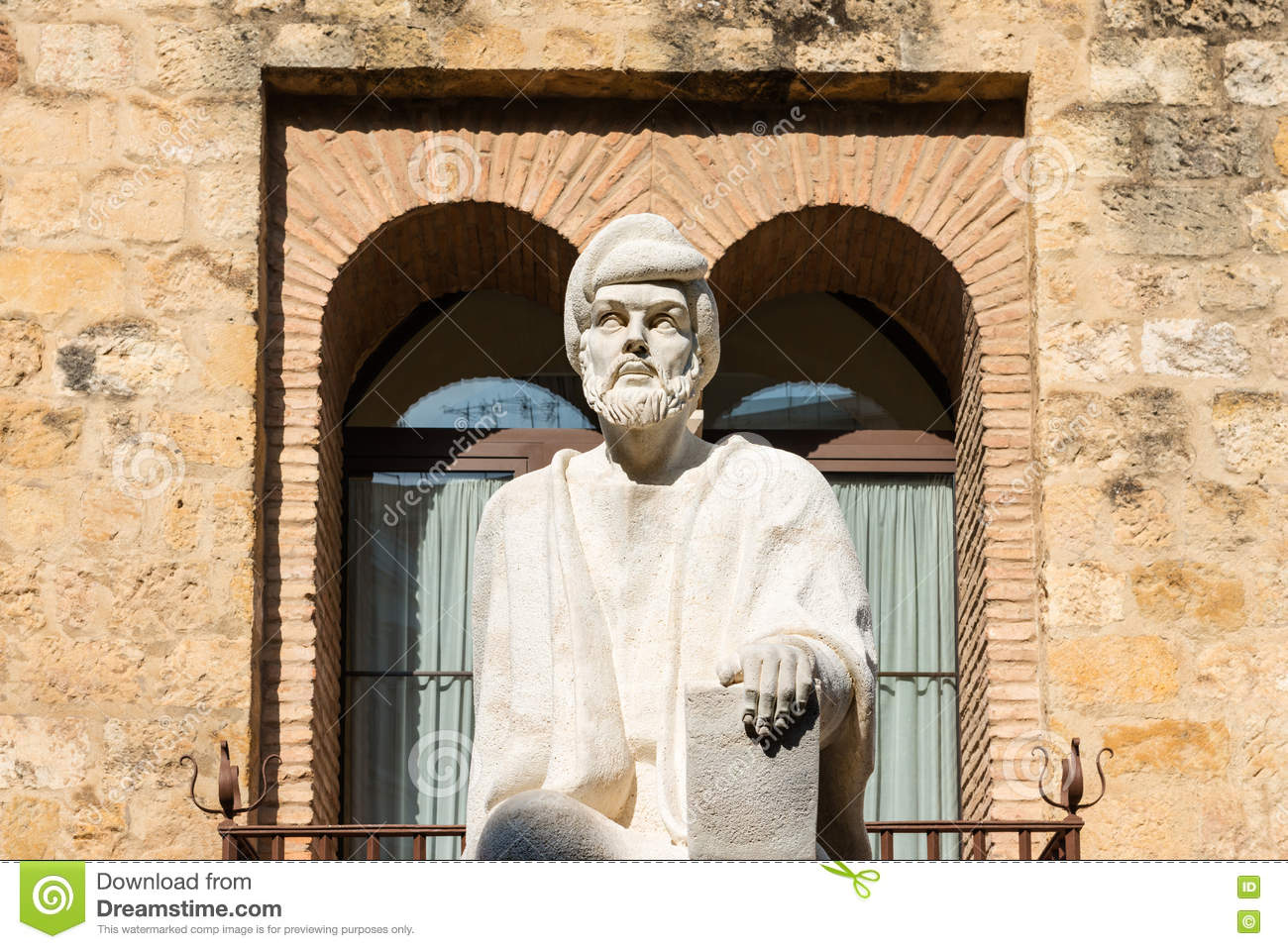Statue d Averroes à Cordoue