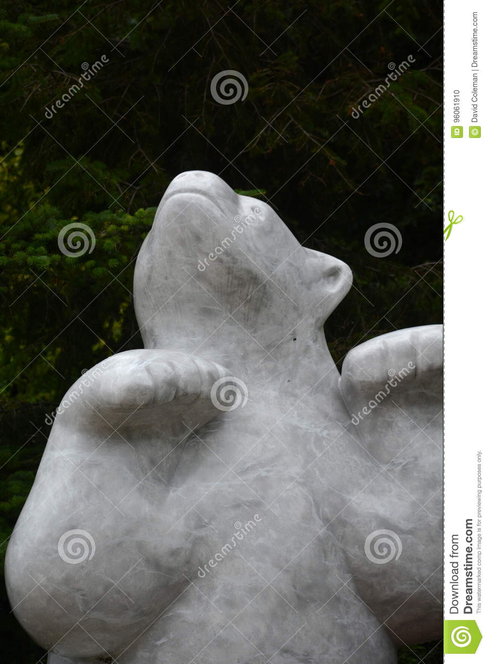 Statue d ours blanc