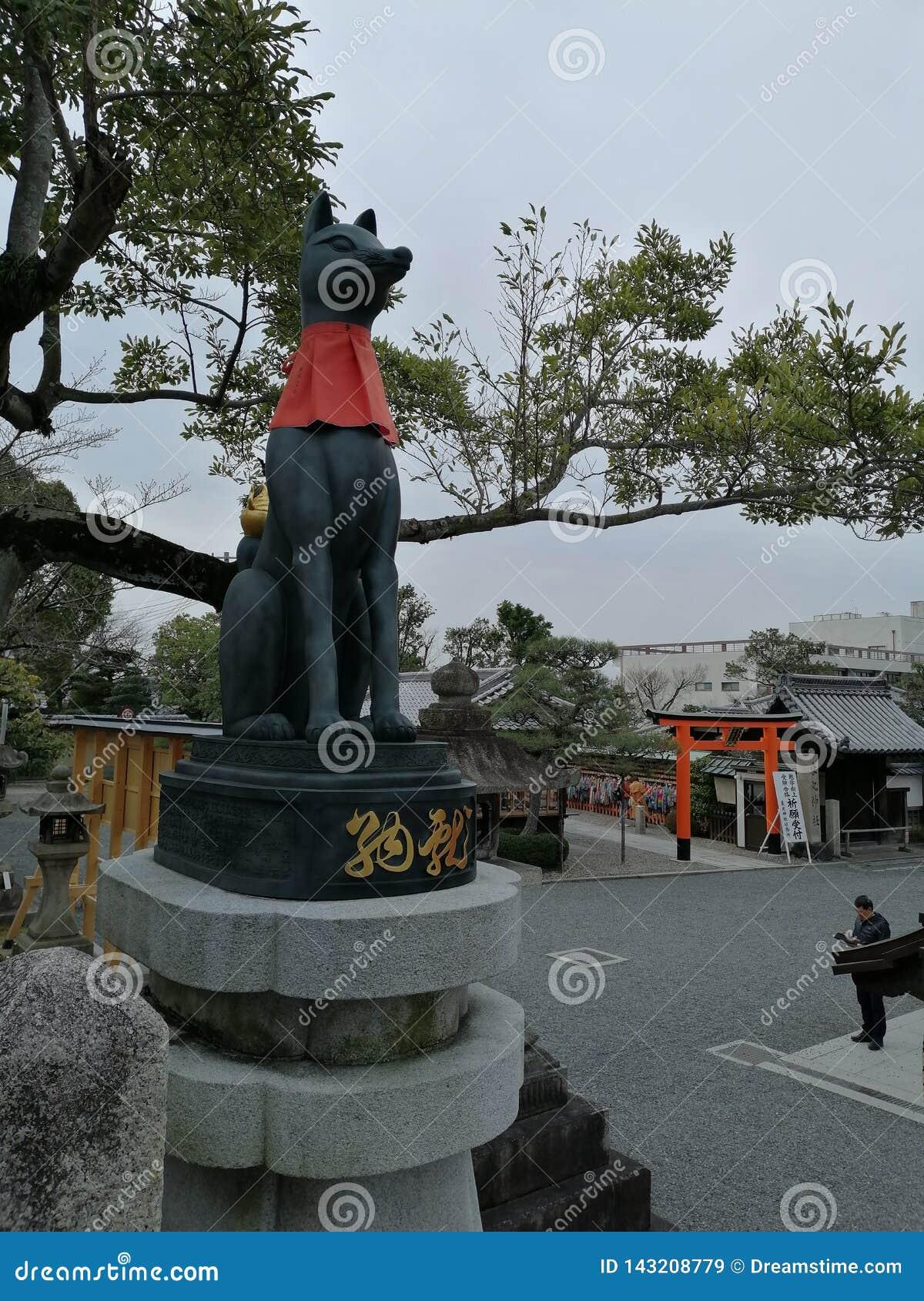 Statue d un dieu de Shinto de riz