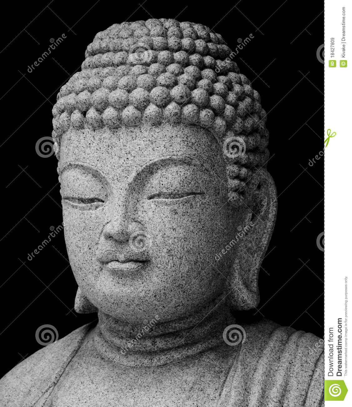 statue de bouddha en noir et blanc images libres de droits image 18427809. Black Bedroom Furniture Sets. Home Design Ideas
