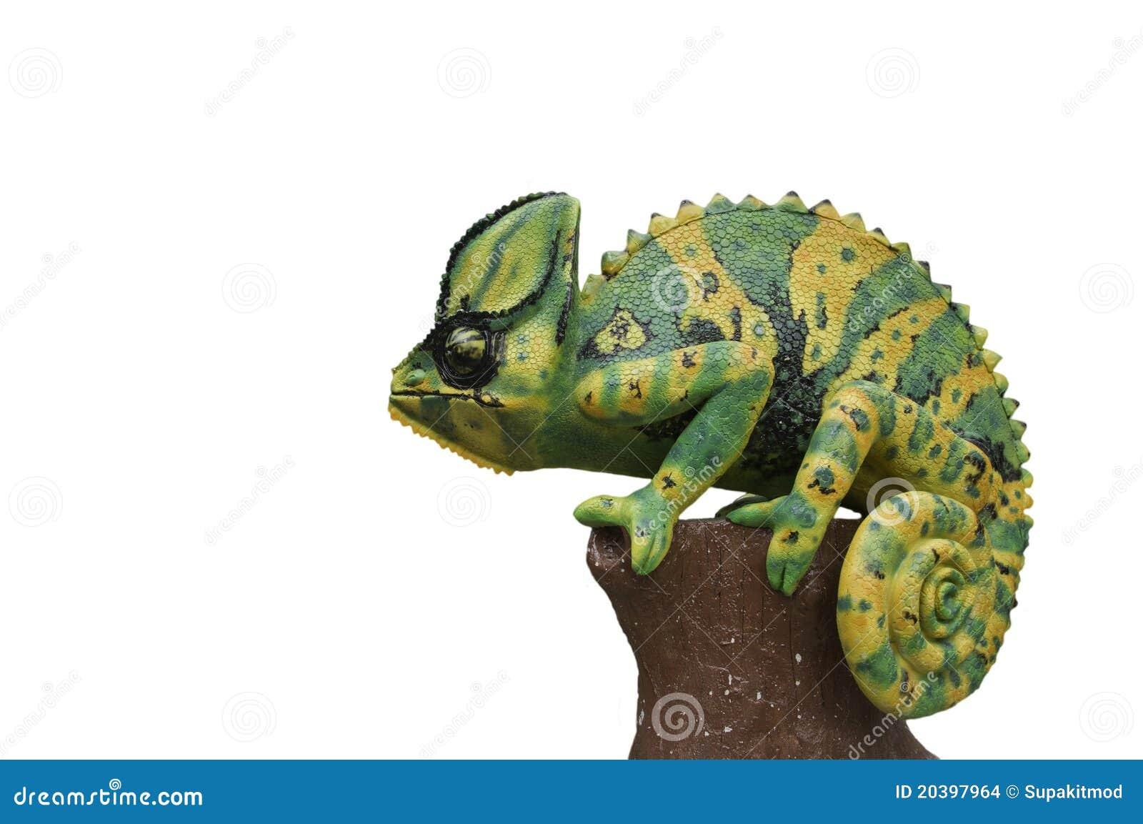Statue de caméléons