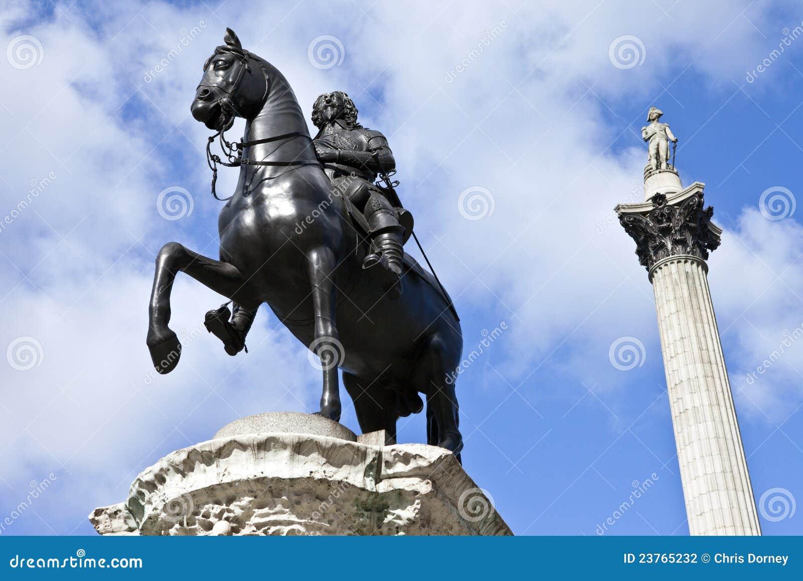 Statue de Charles I et fléau du Nelson