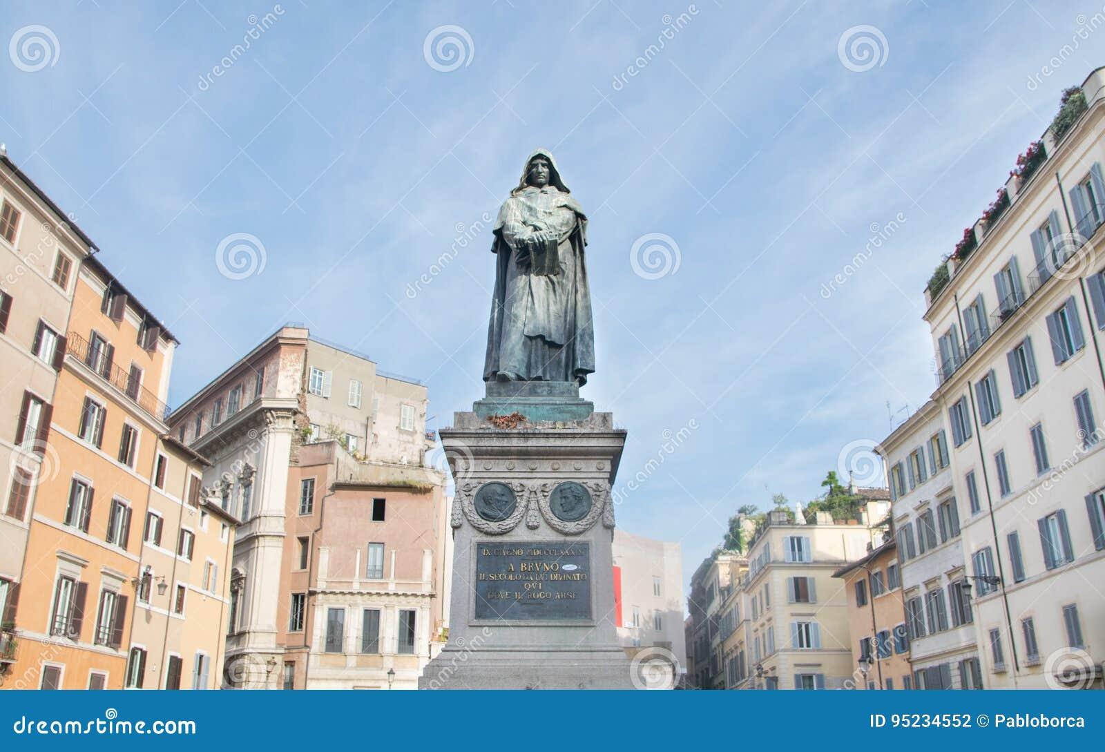 Statue de Giordano Bruno à la place de Campo Dei Fiori à Rome