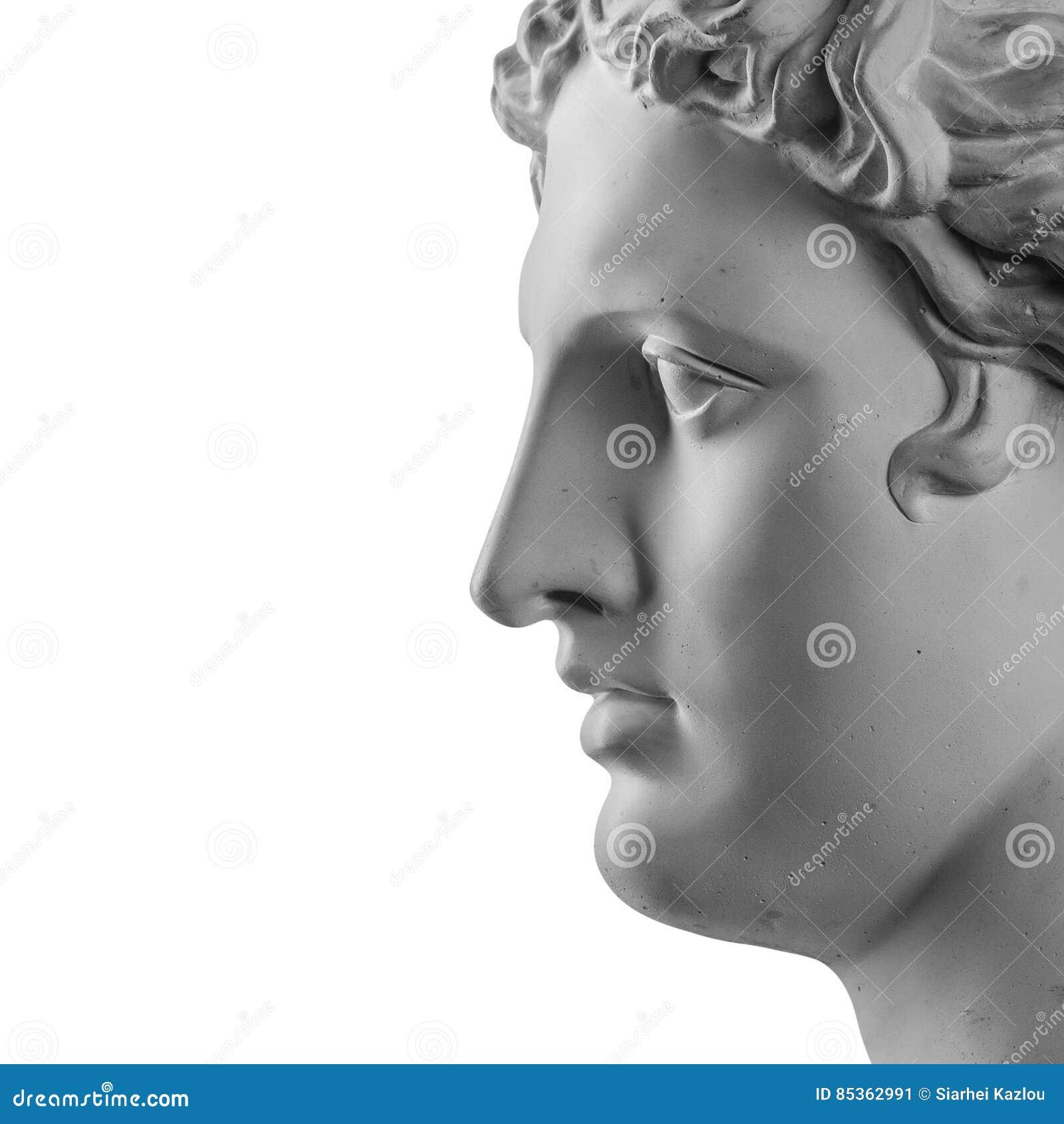 Statue de gypse de tête du ` s d Apollo