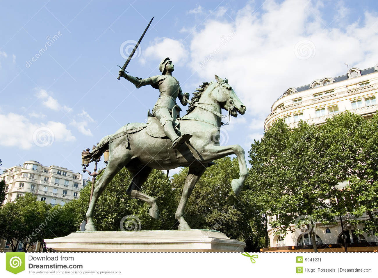 Statue de Joan Paris d arc