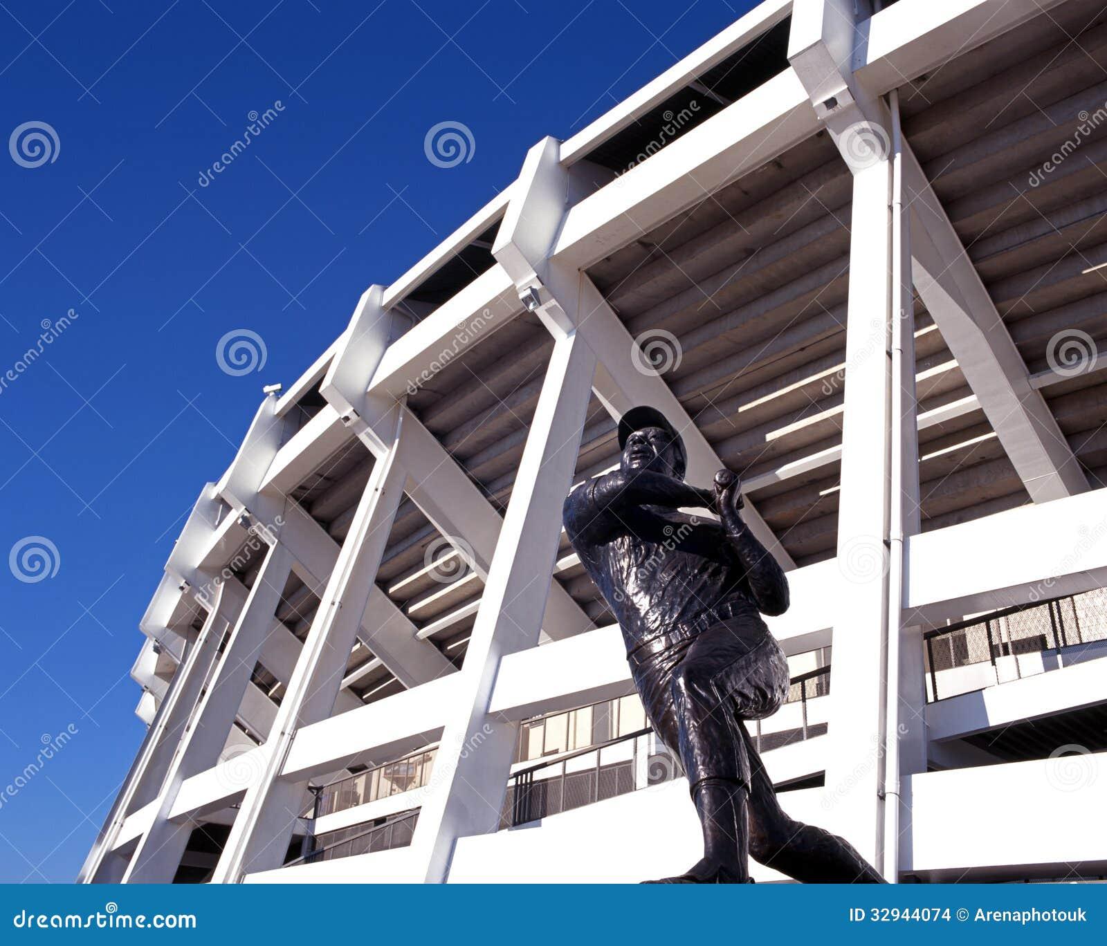 Statue de joueur de baseball, Atlanta, Etats-Unis.
