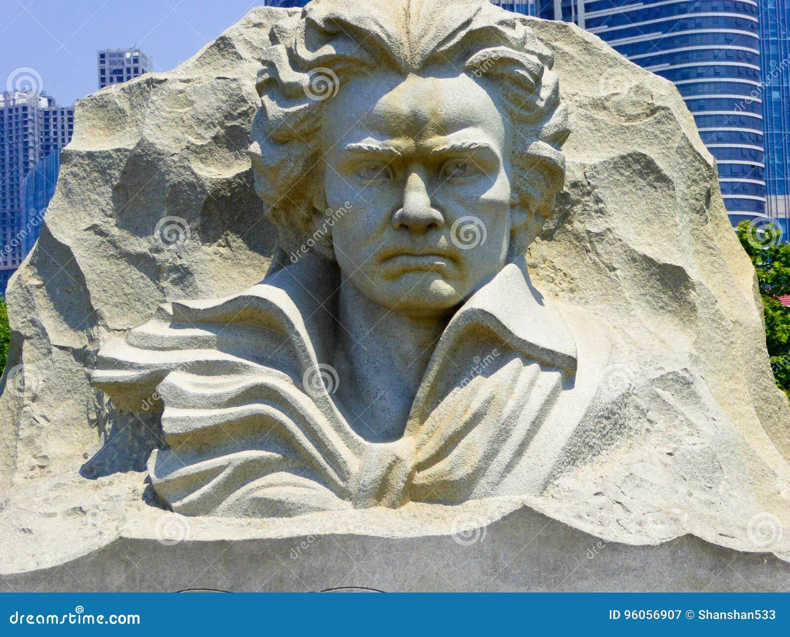 Statue de monument de pierre de Beethoven