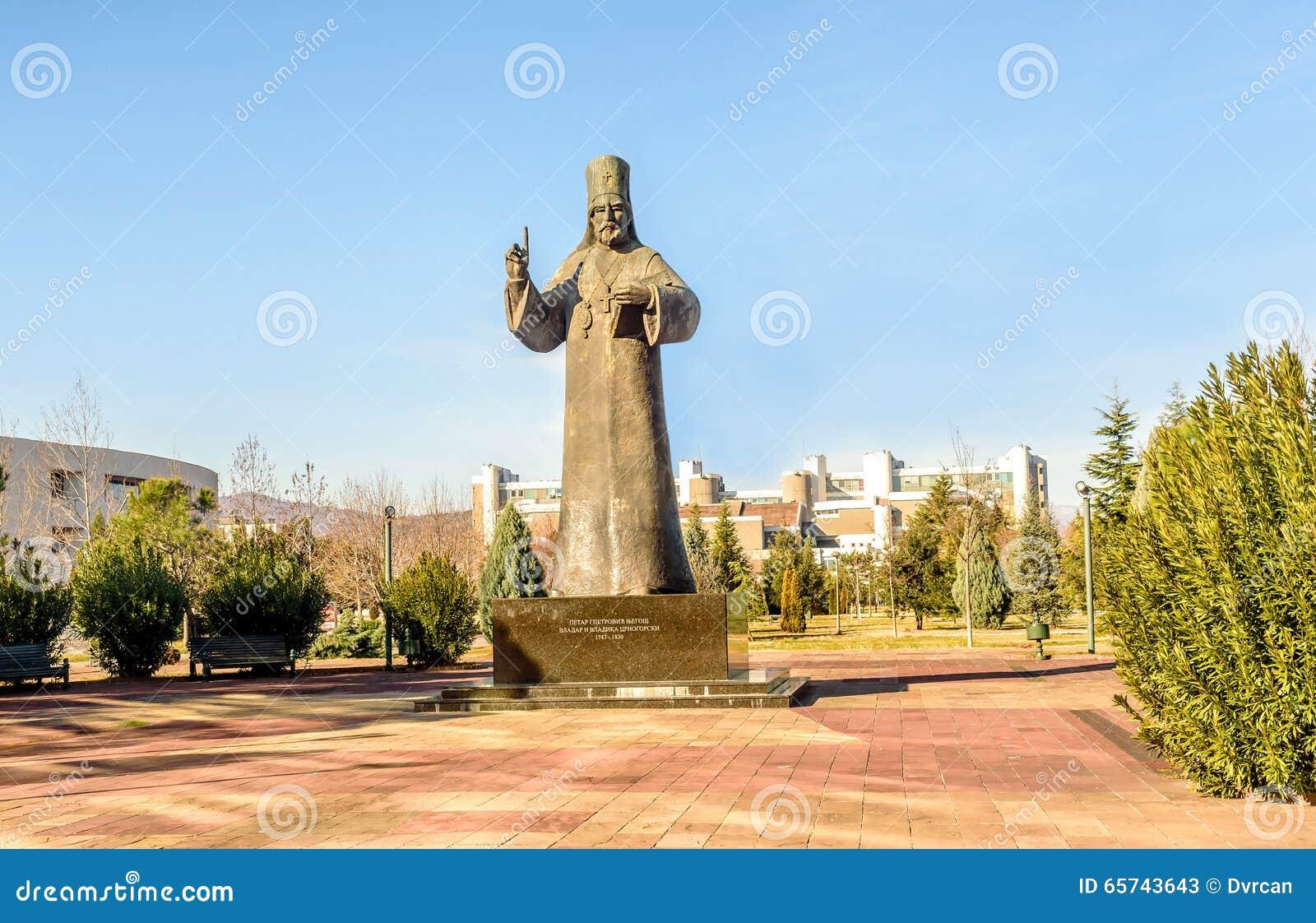 Statue de Petar I Petrovic Njegos à Podgorica, Monténégro