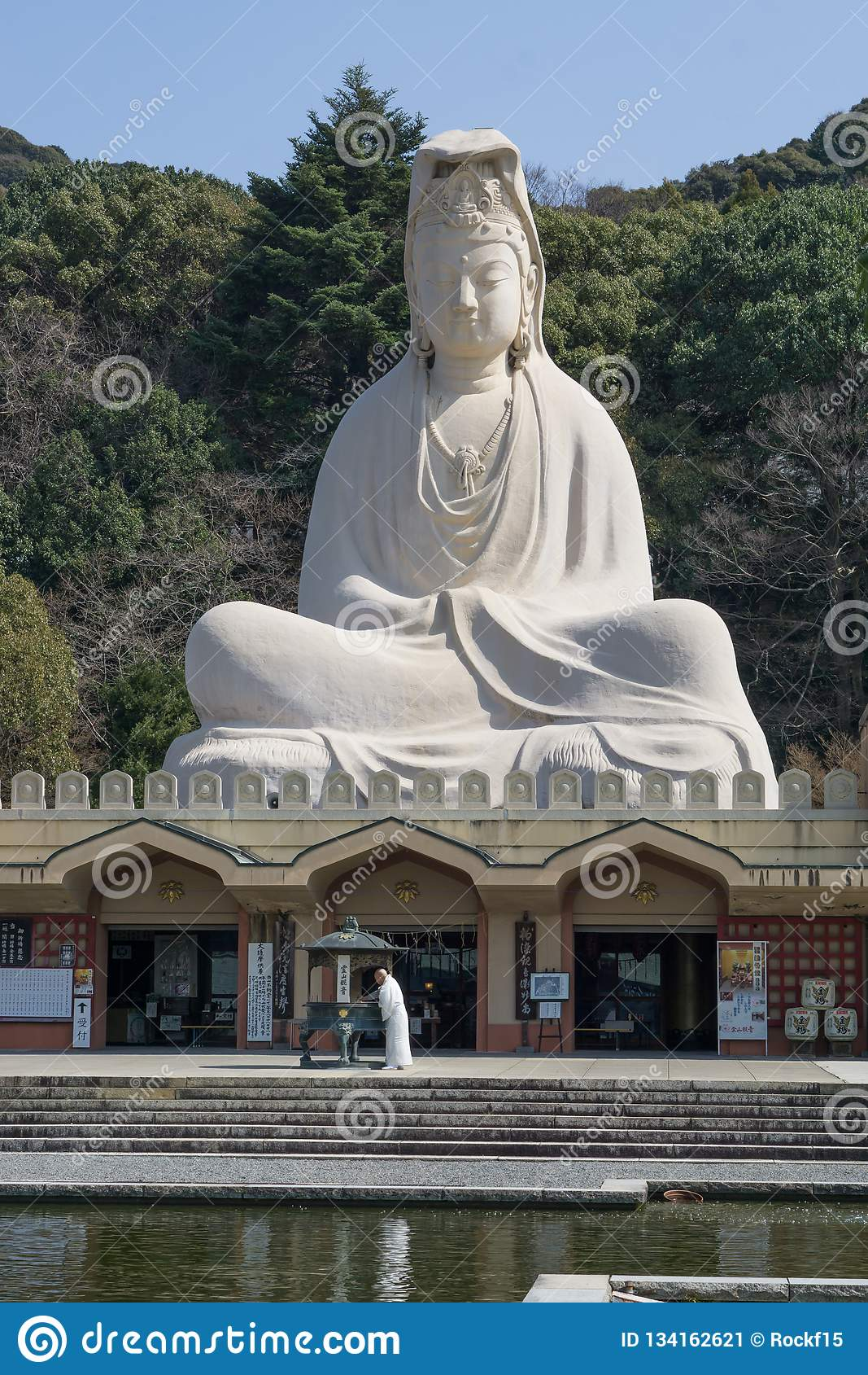 Statue de Ryozen Kannon, la déesse de la pitié
