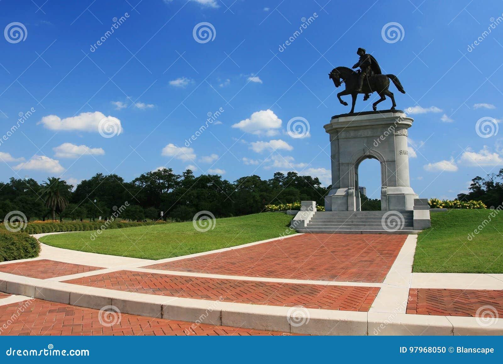 Statue de Sam Houston au parc, le Texas
