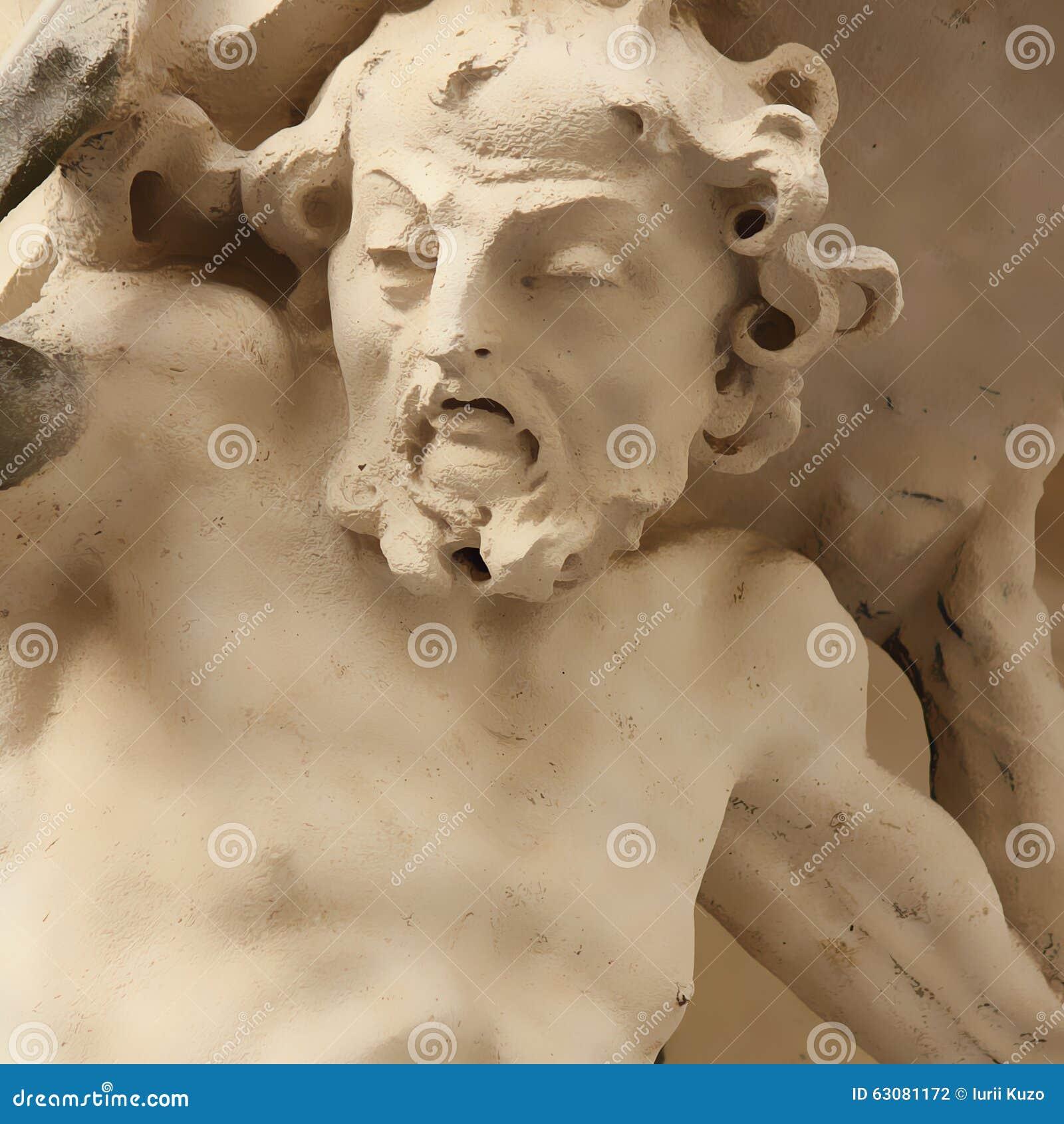 Download Statue de Sisyphus illustration stock. Illustration du travail - 63081172