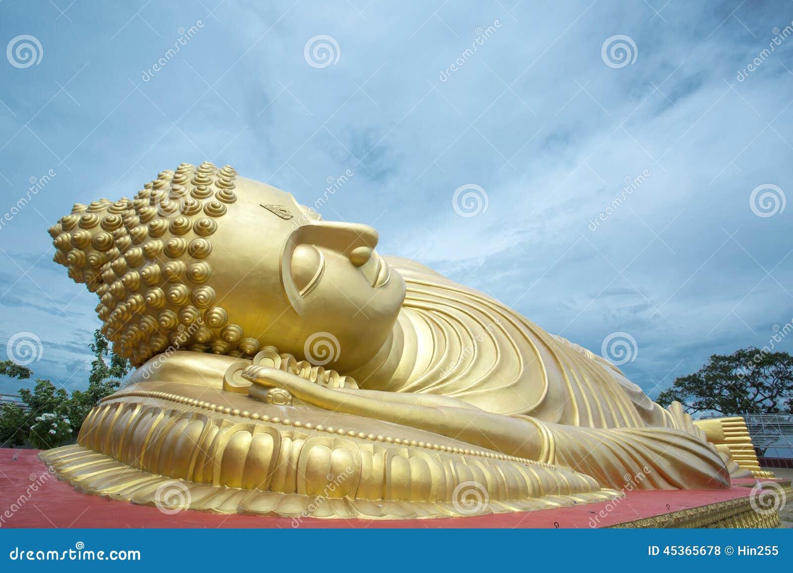 Statue de sommeil Bouddha
