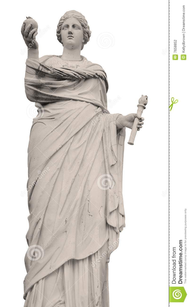 Statue Of Demeter On White Background Stock Photo - Image ...