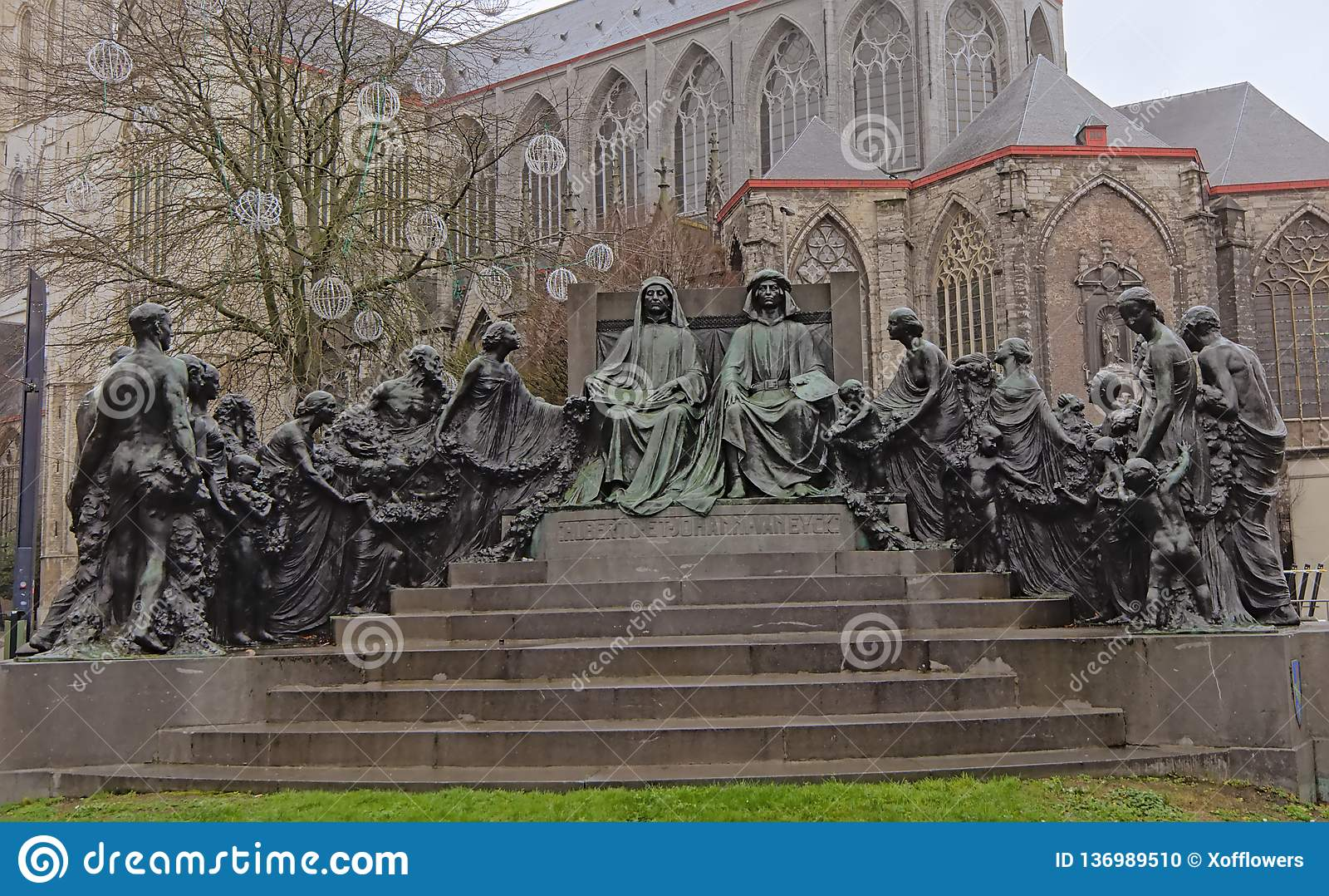 Statue der Van Eyck-Brüder, Gent, Belgien