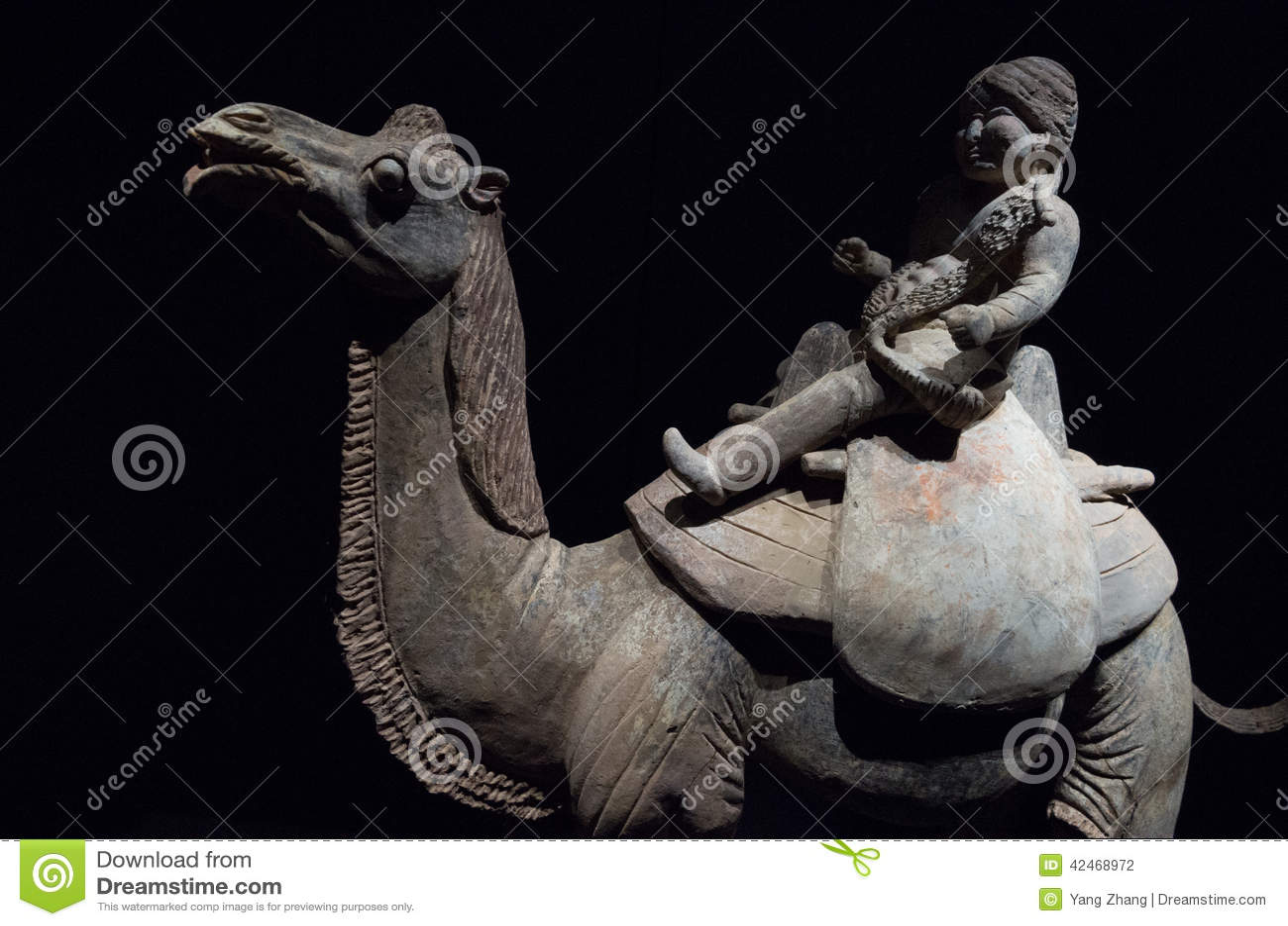 Statue des Kamelreiters