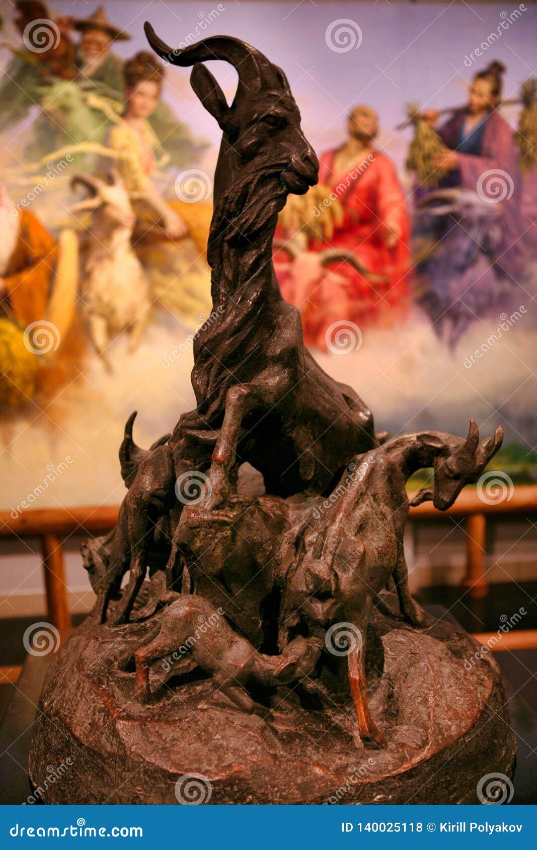 Statue des Symbols mit fünf Ziegen von Guangzhou