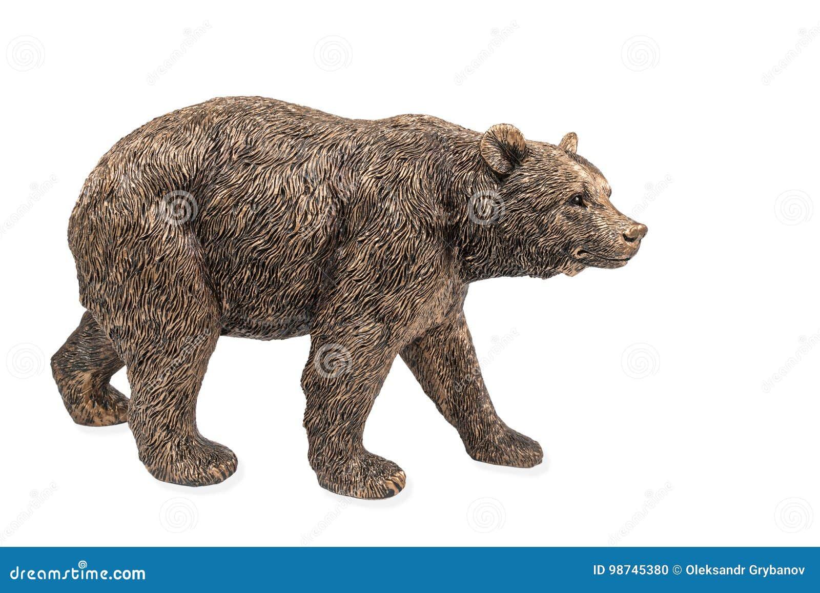 Statue en bronze d un ours brun