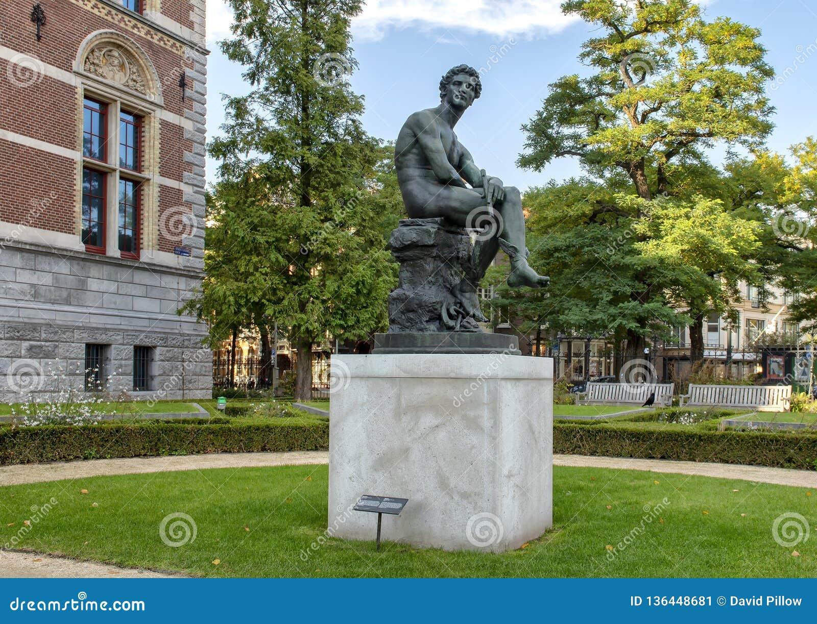 Statue en bronze de Mercury, Rijksmuseum, Amsterdam, Pays-Bas