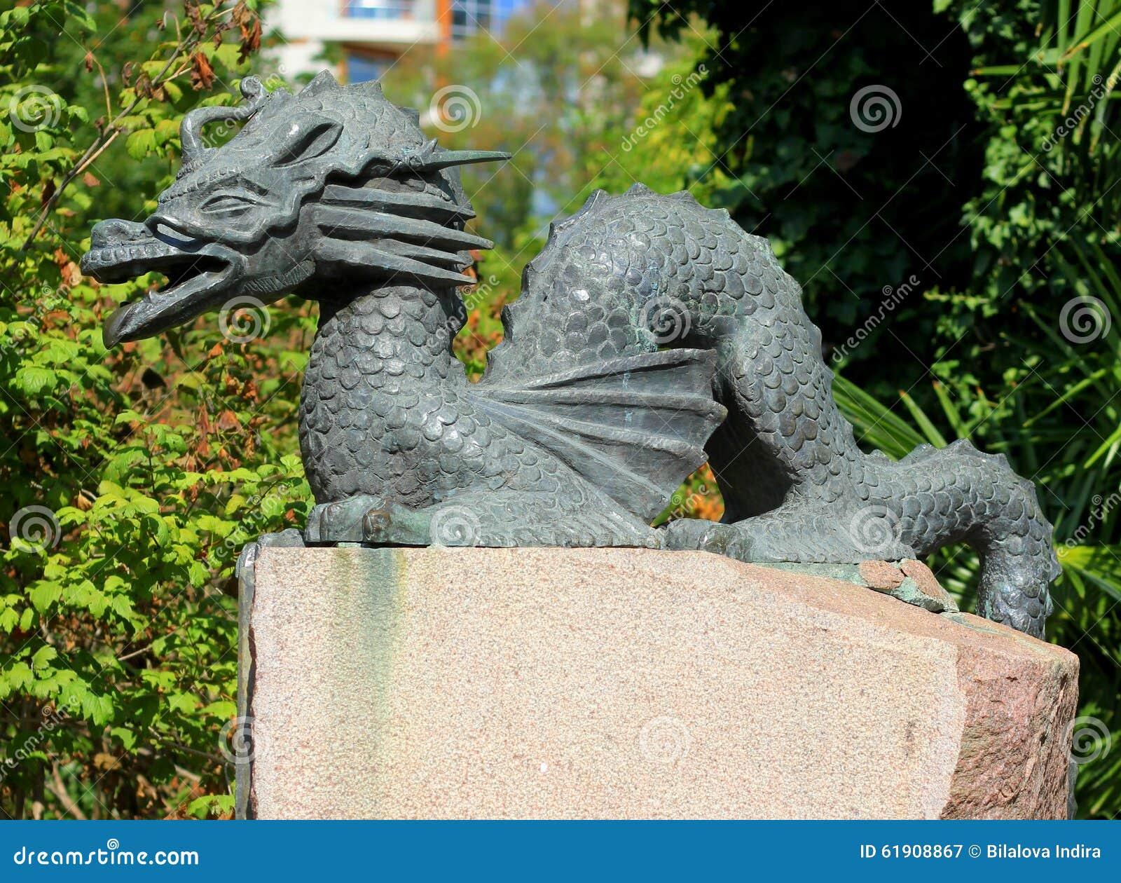 Ordinaire Statue En Laiton De Gragon De Jardin Japonais