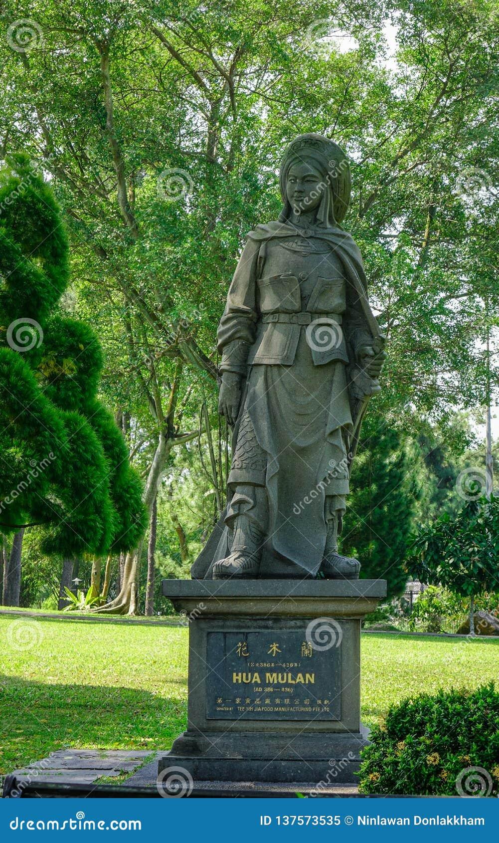 Statue en pierre chinoise à Singapour