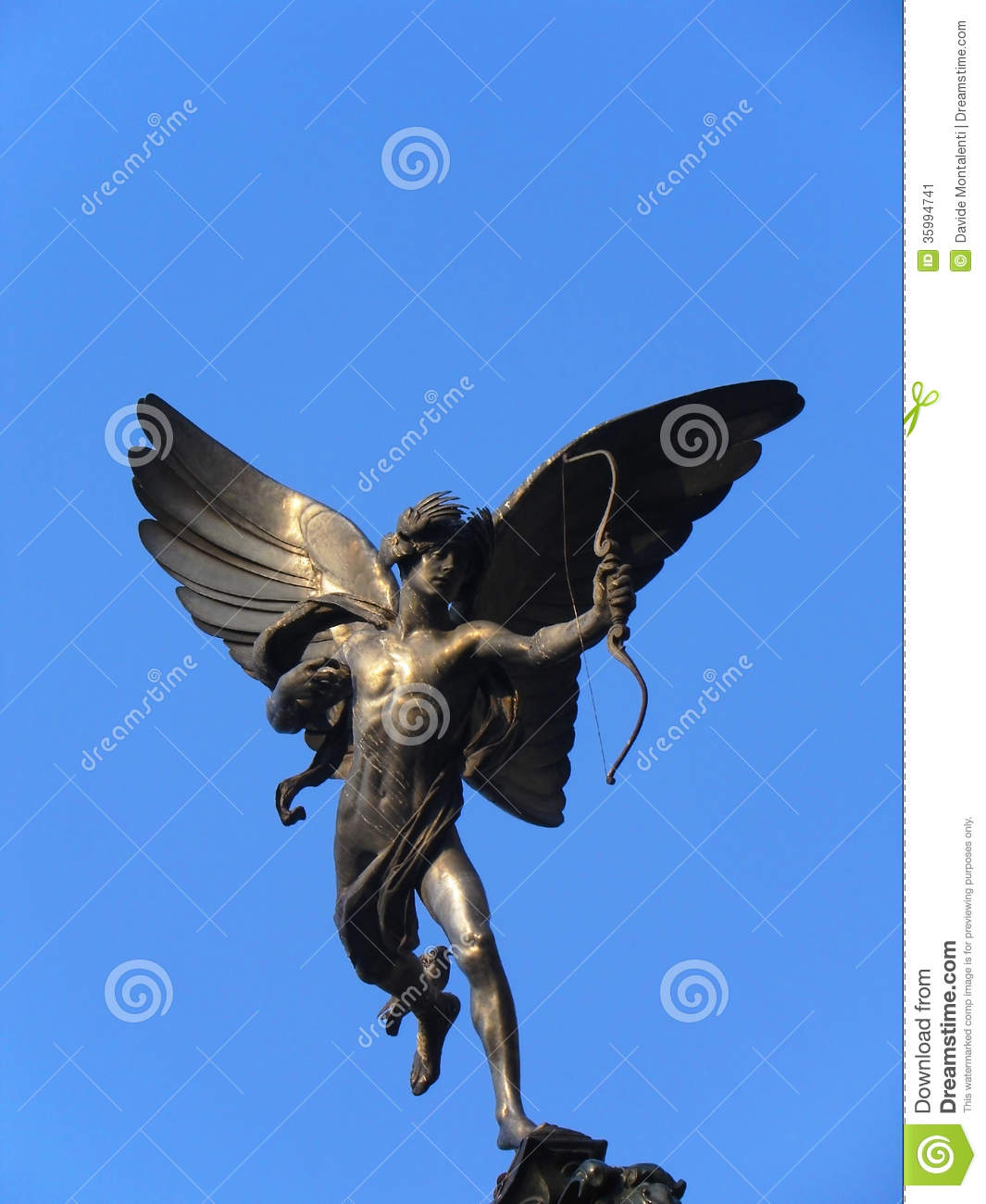 Statue Of Eros In Piccadilly Circus London Stock Image Image Of