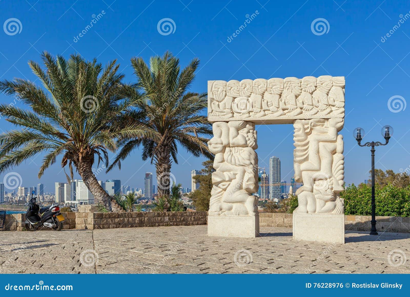 Statue of Faith in Old Jaffa.