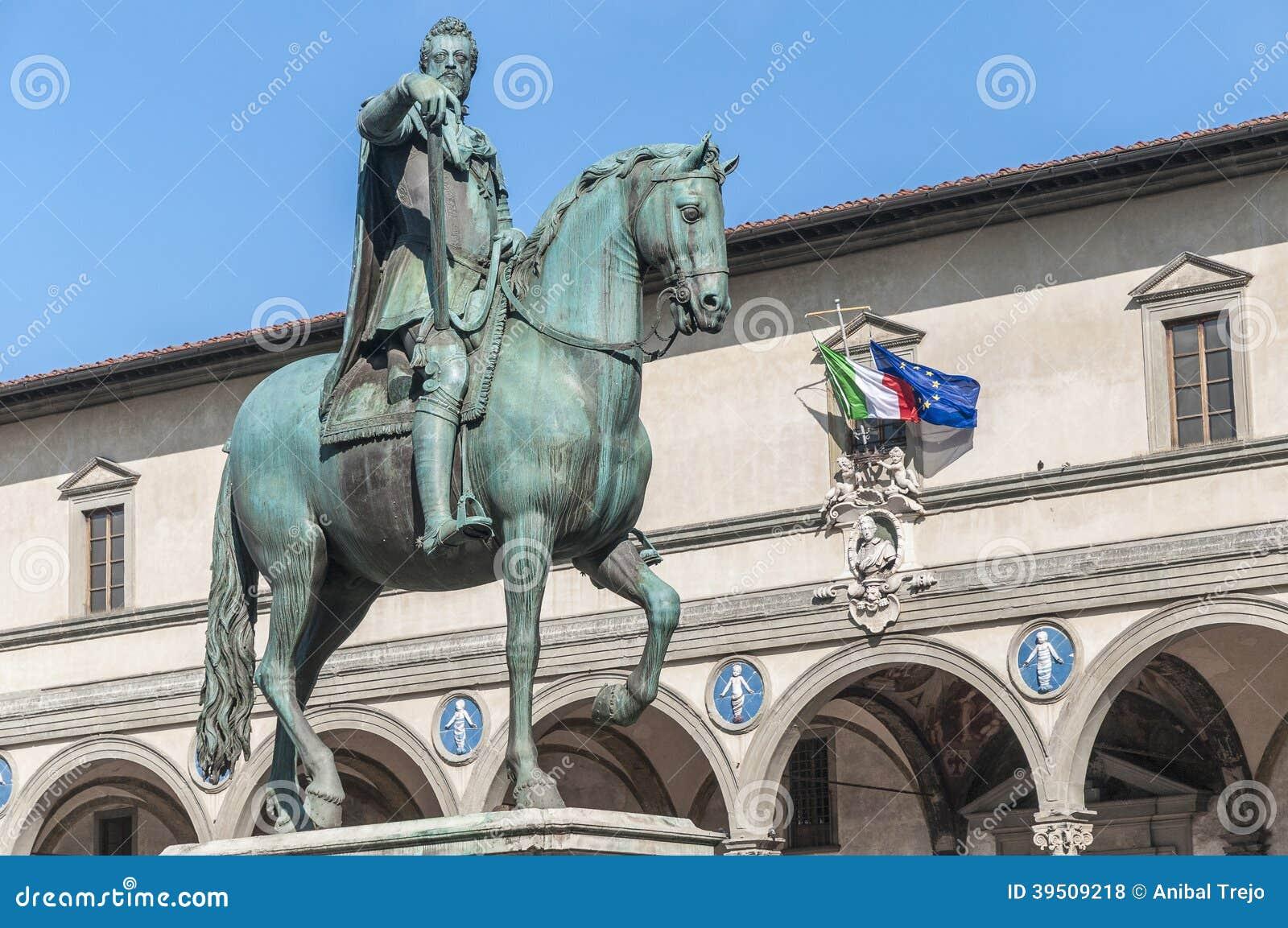 Statue of Ferdinando I de Medici in Florence, Italy