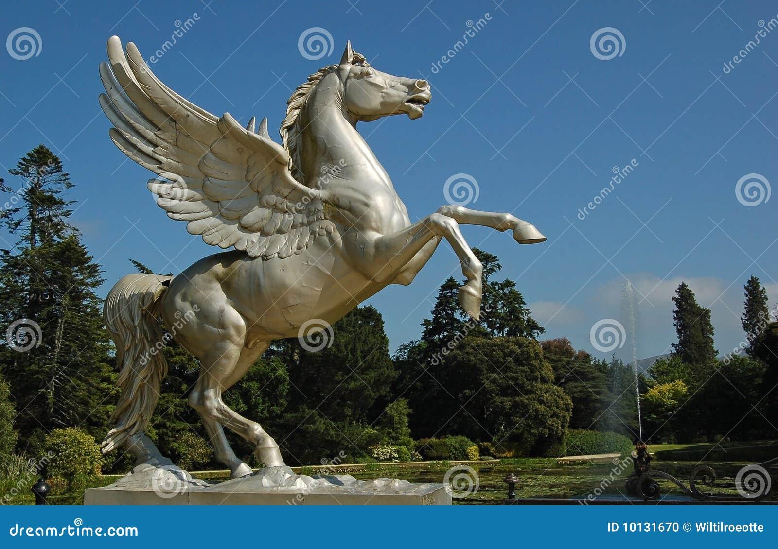 Statue Flying Horse Stock Photo Image 10131670