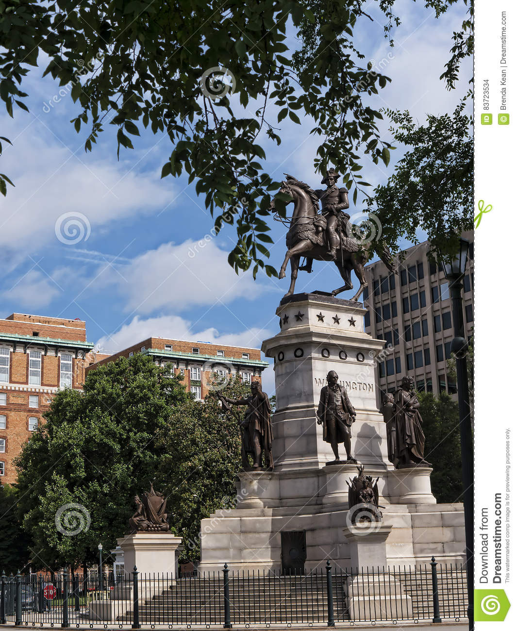 Statue Of George Washington On The Outskirts Of Washington DC USA Editorial Stock Image