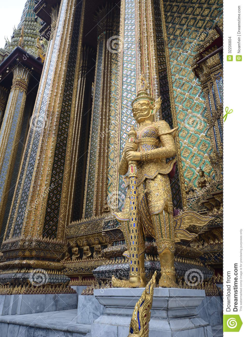 Statue In Grand Palace Bangkok Stock Images - Image: 32206804