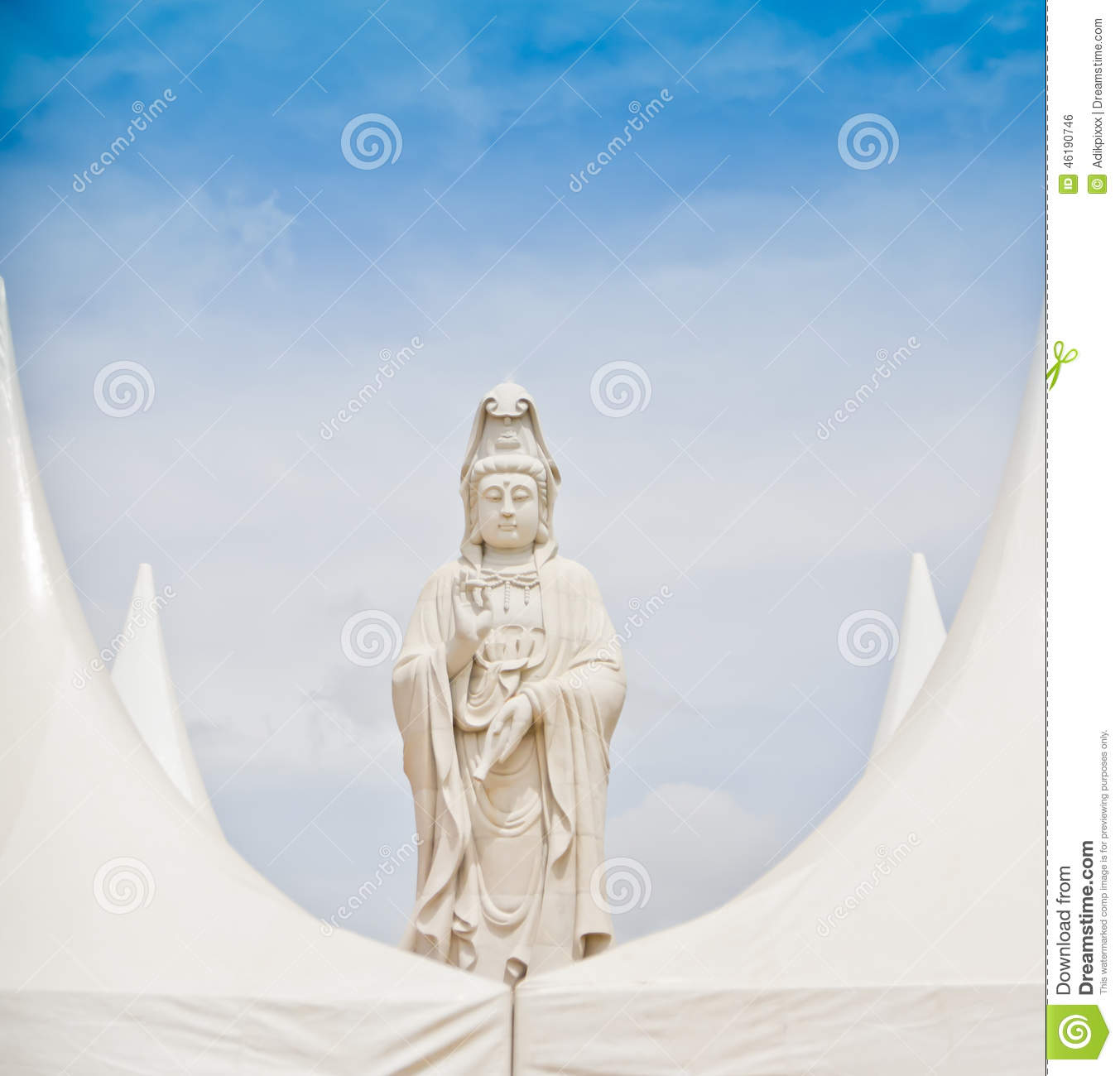 Statue of Guan im.(What about Religion, in Thailand, it is public).