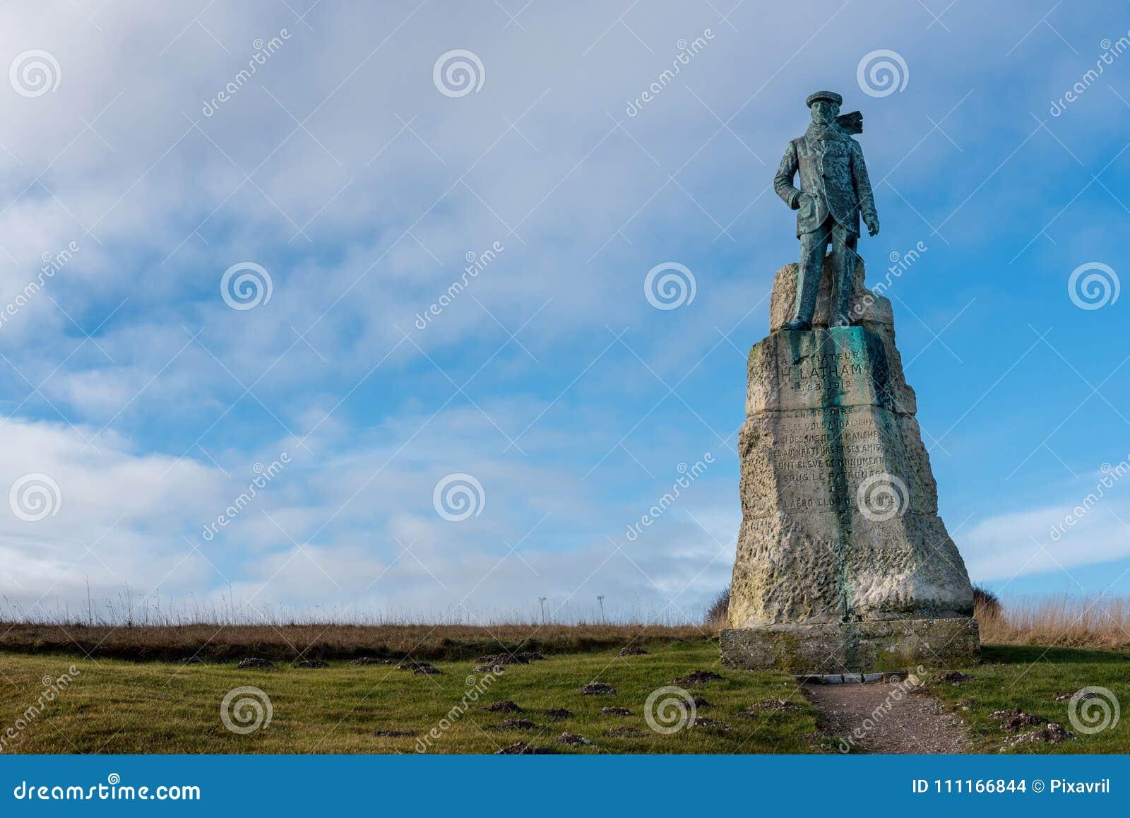 Statue of Hubert Latham, pioneering aviation