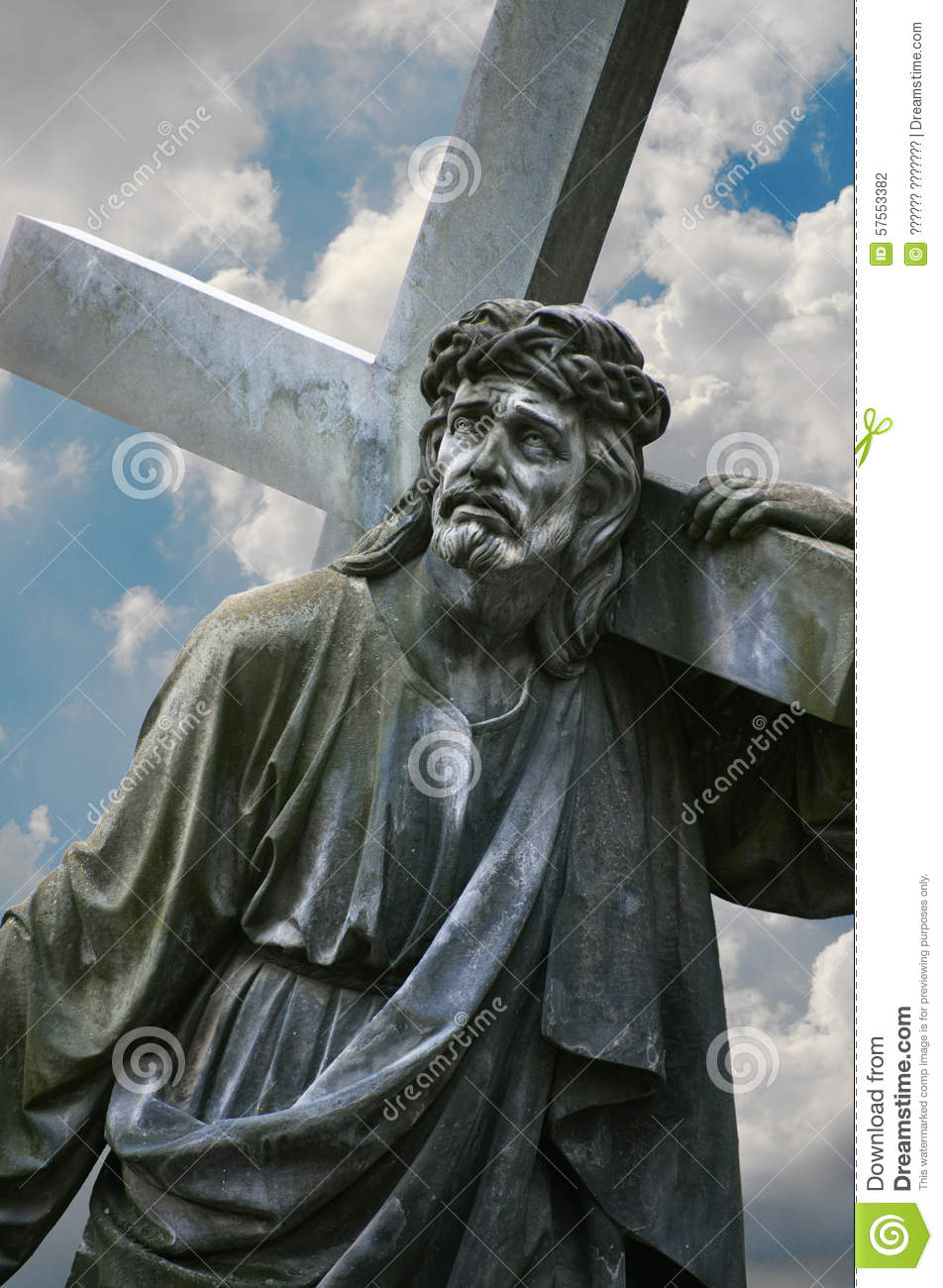 jesus carrying the cross clipart images