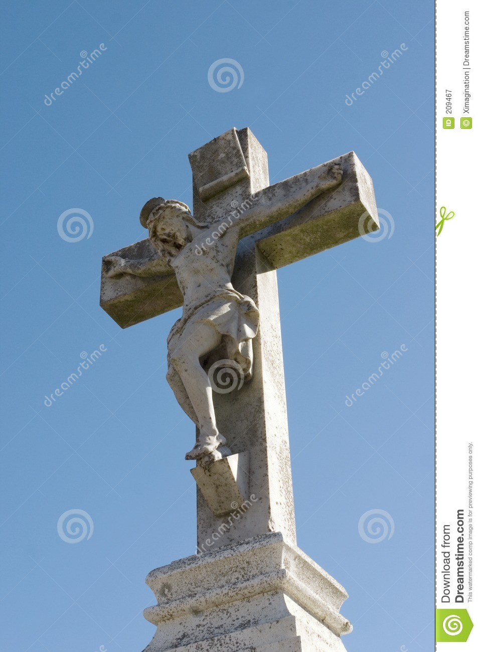 Statue Of Jesus On The Cross Royalty Free Stock ...