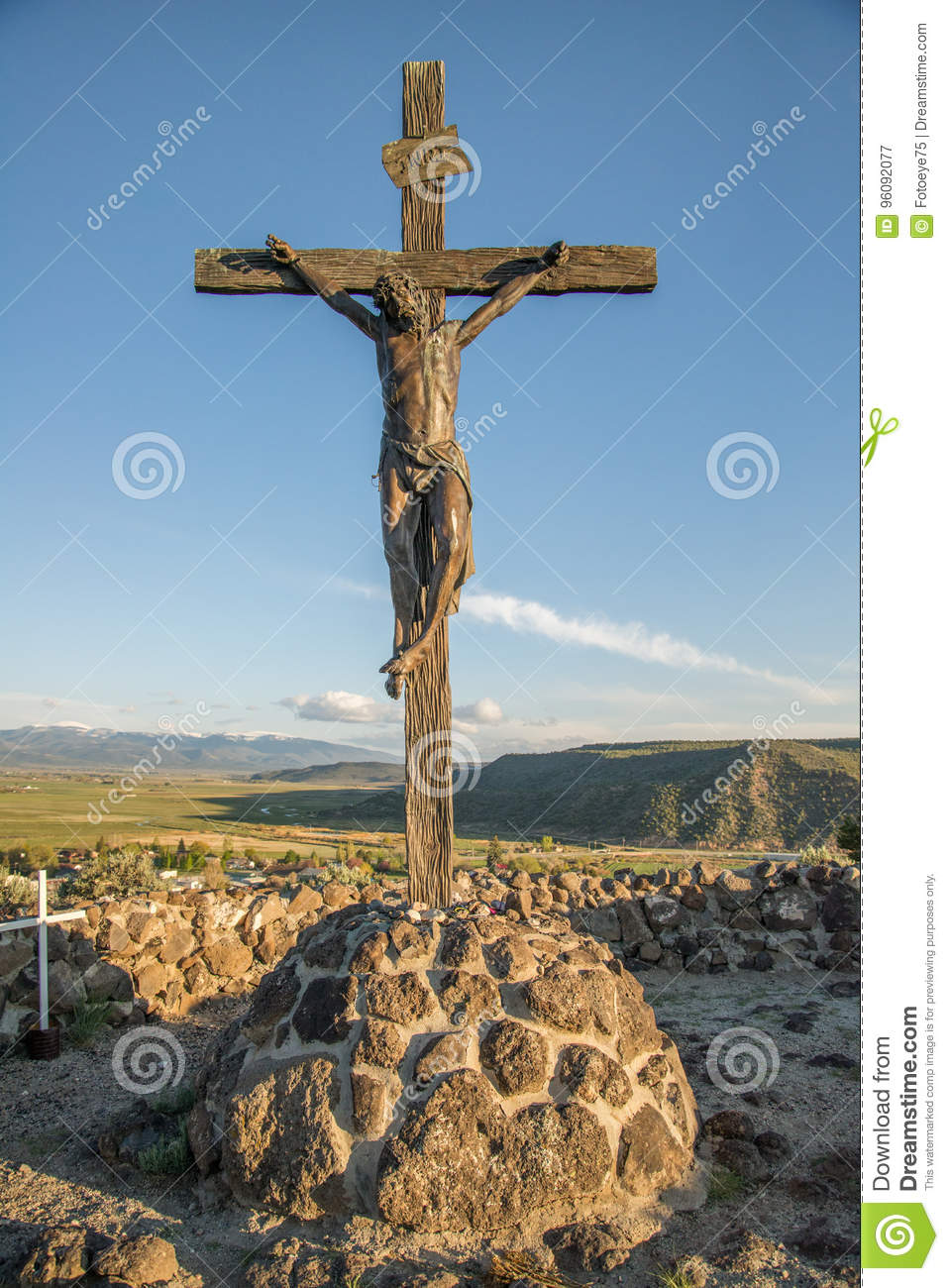 Statue Of Jesus On The Cross Editorial Photography - Image