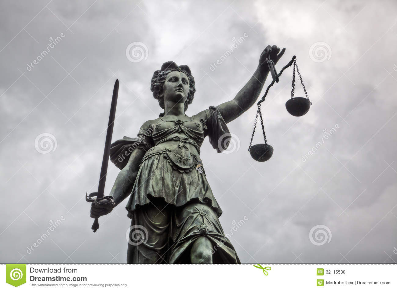 statue justitia stock photo image of cloudy frankfurt 32115530. Black Bedroom Furniture Sets. Home Design Ideas
