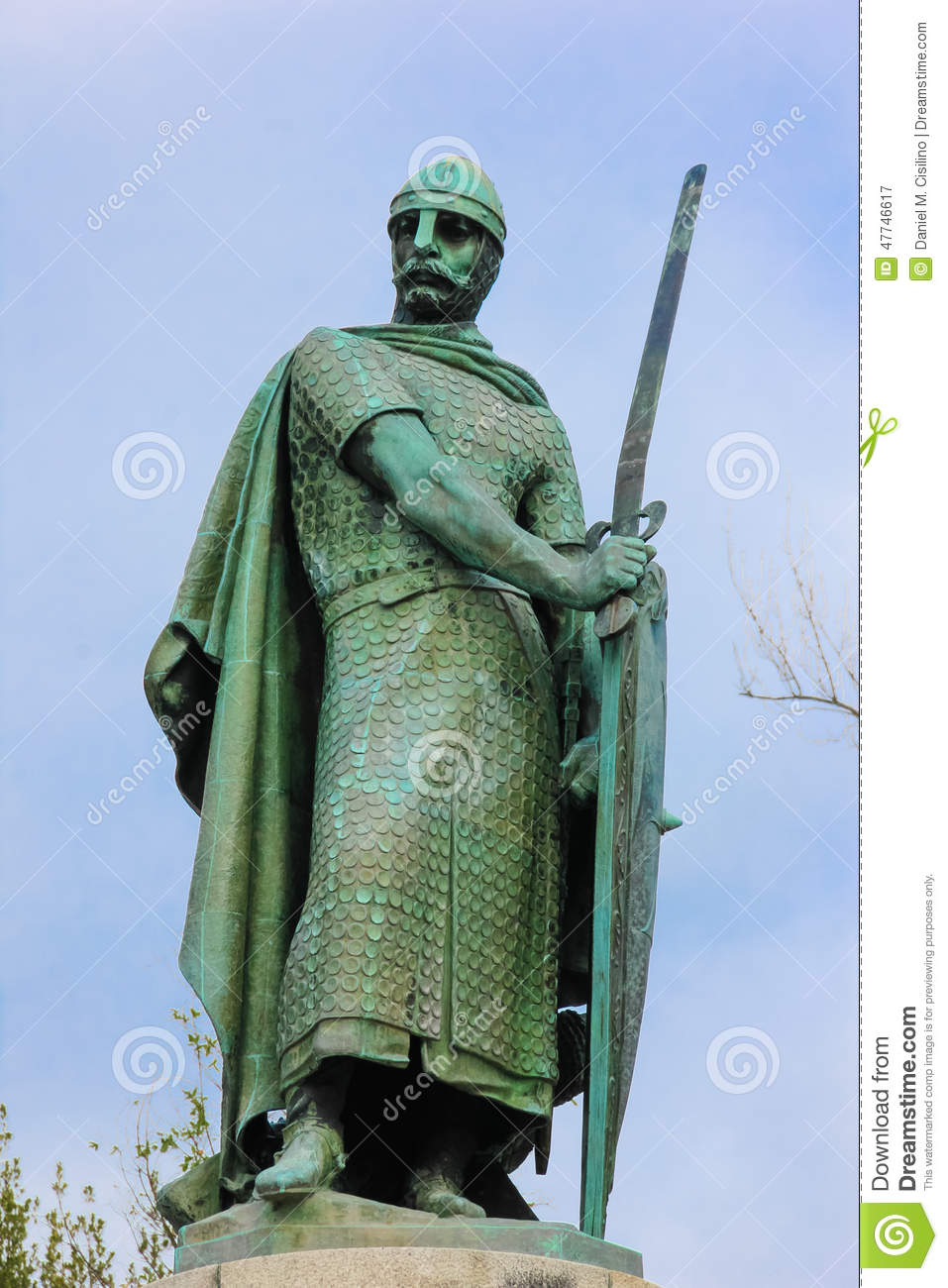 Download Statue Of King Afonso Henriques. Guimaraes. Portugal Stock Image - Image of buckler, braver: 47746617