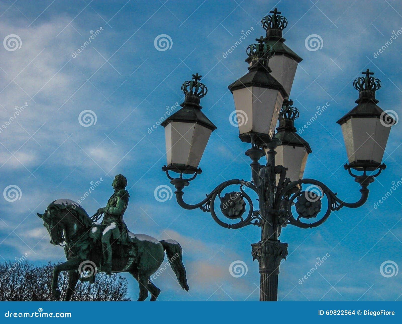 Statue Of King Karl Johan In Oslo Norway Stock Photo