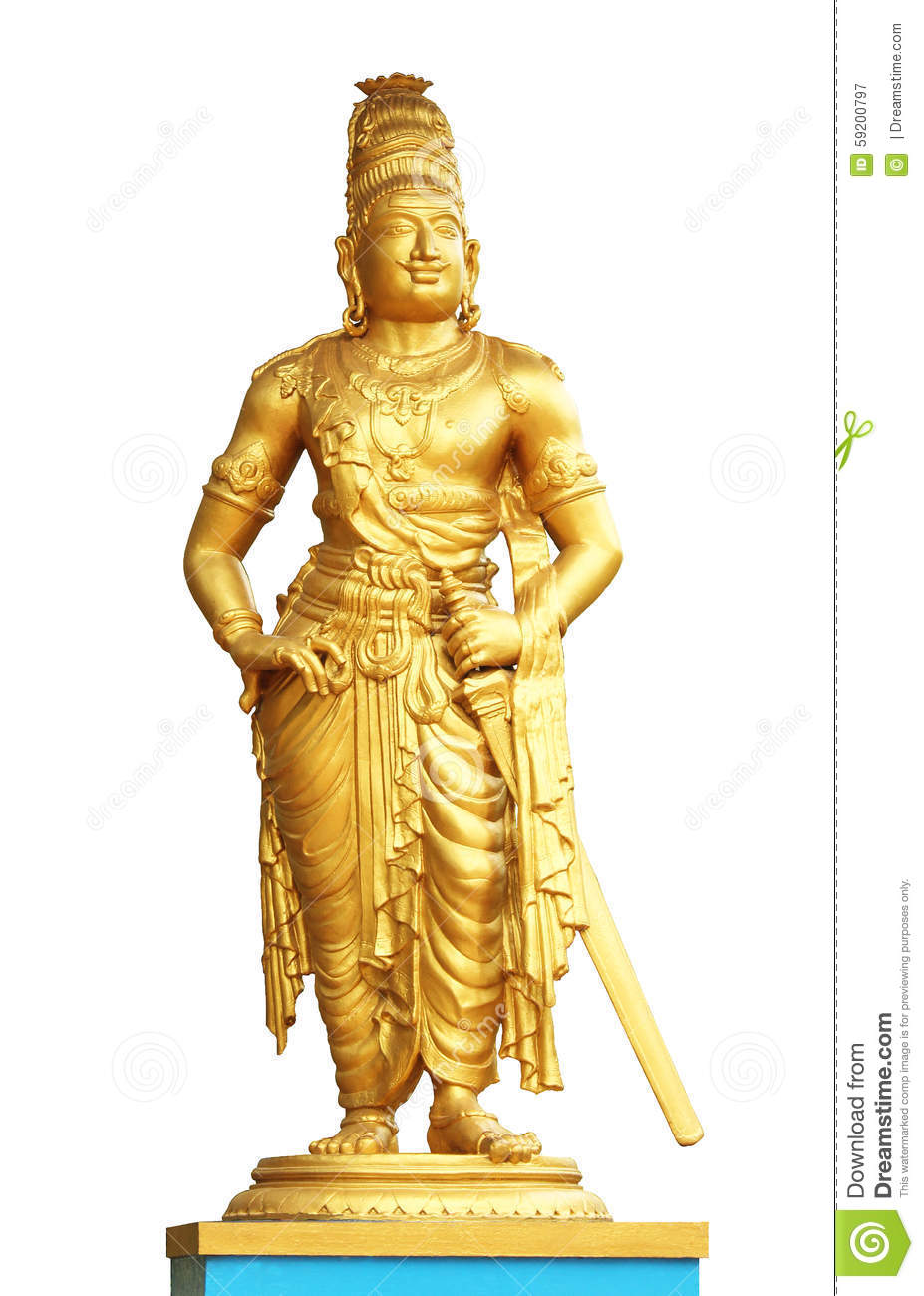 The statue of king raja raja cholan
