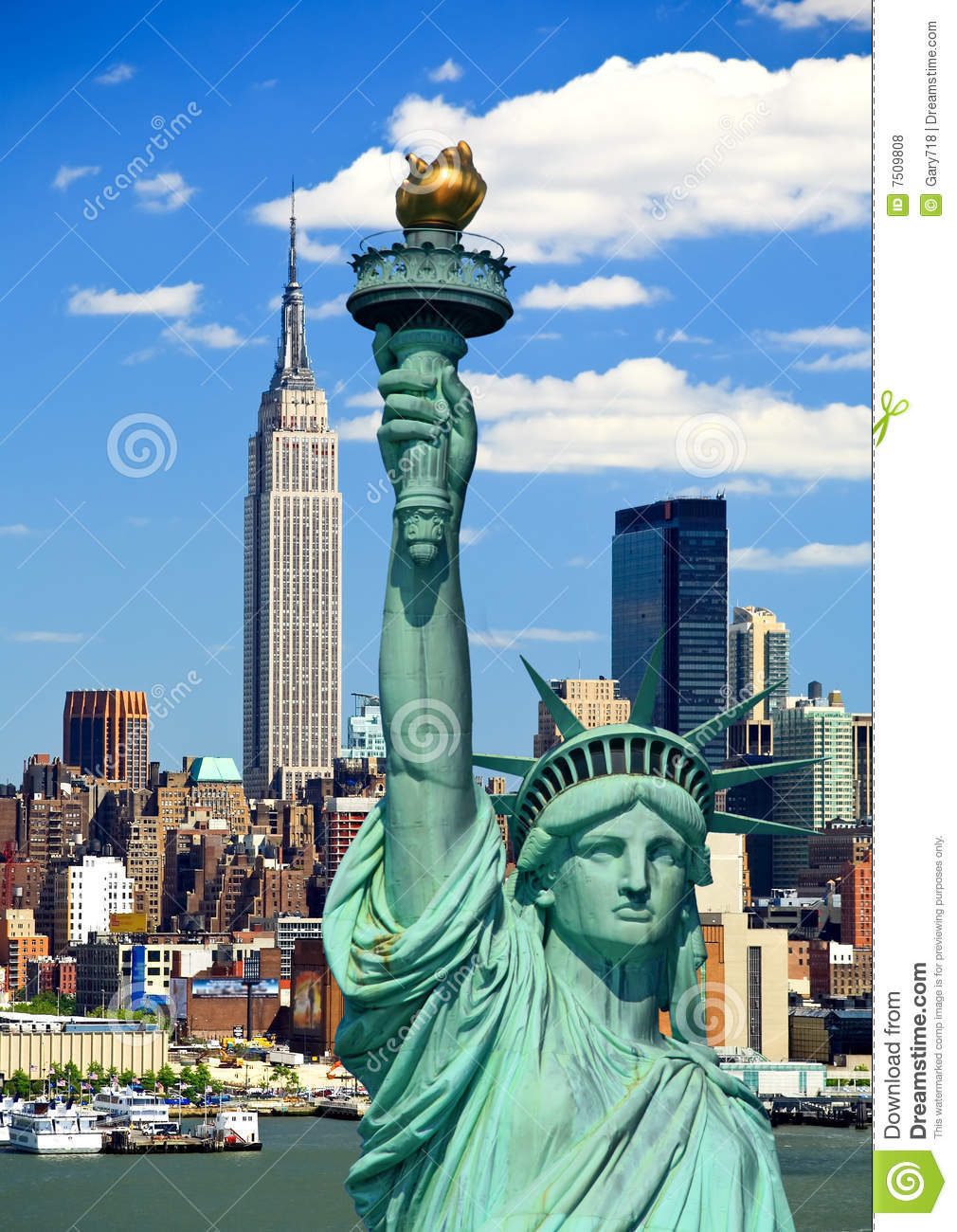The Statue Of Liberty And Manhattan Royalty Free Stock Photos - Image ...