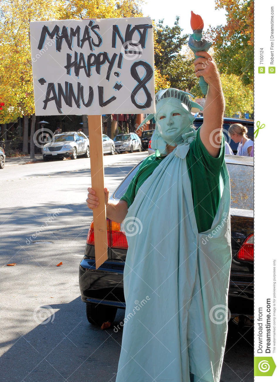 Statue of Liberty at Same-sex marriage protest