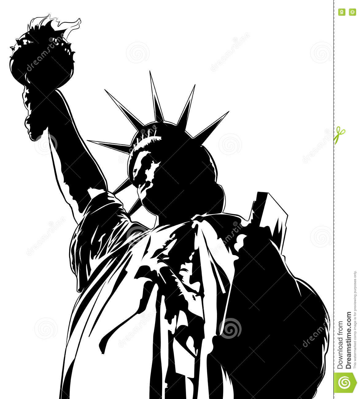 statue of liberty vector image stock vector illustration of rh dreamstime com statue of liberty vector art statue of liberty vector free download