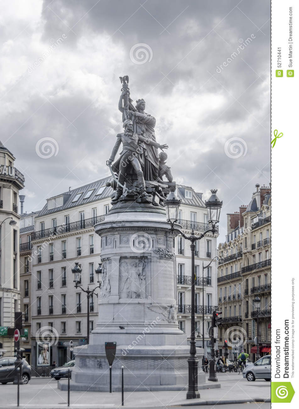 statue of mar chal moncey in place de clichy paris france editorial photo image 52710441. Black Bedroom Furniture Sets. Home Design Ideas