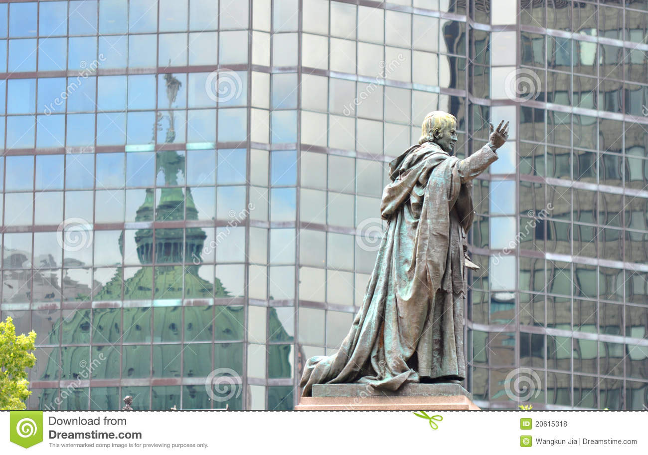 Statue outside Mary Queen of the World Cathedral