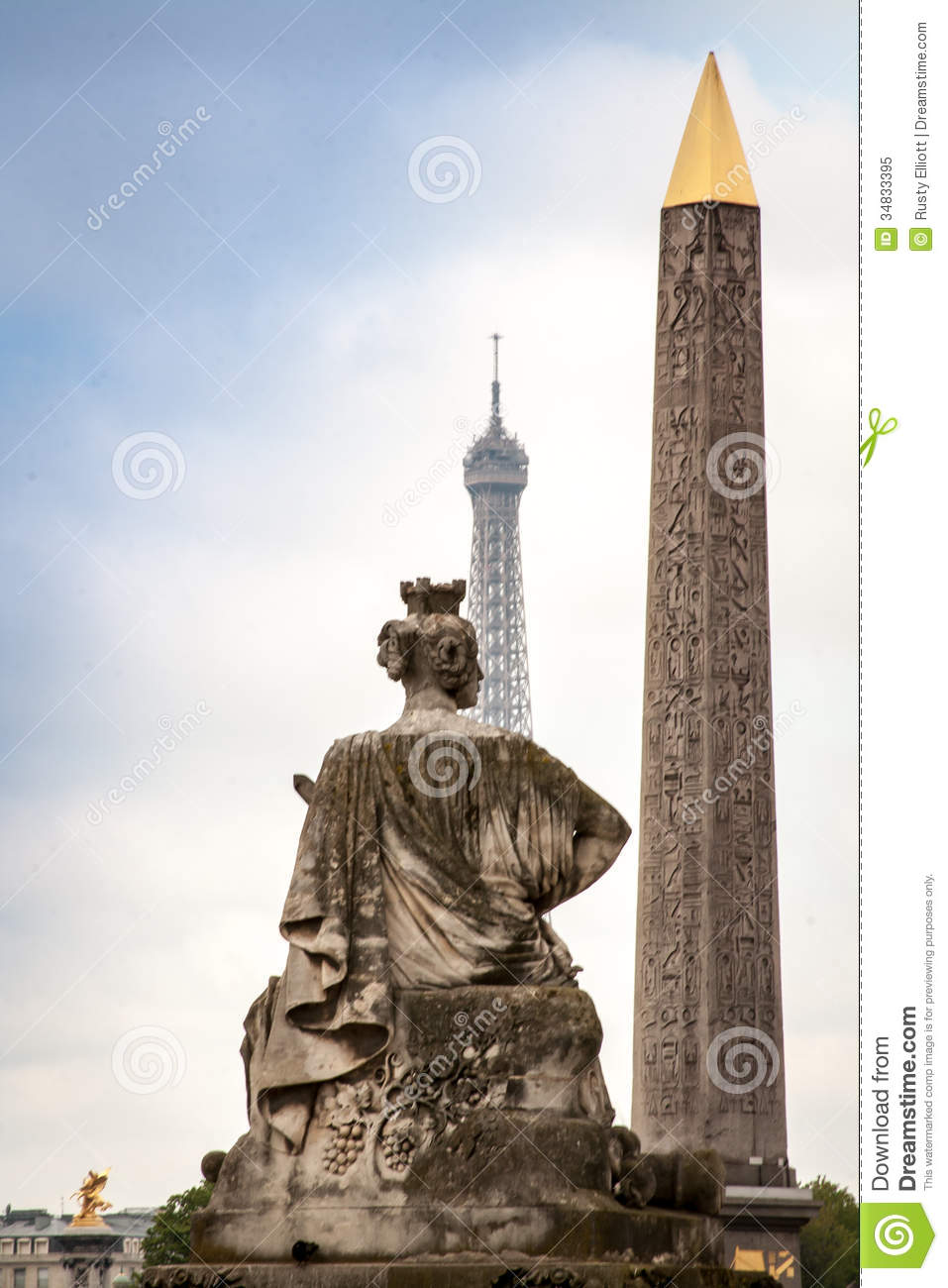 Luxor Tower One Bedroom Suite: Statue In Paris Royalty Free Stock Photo