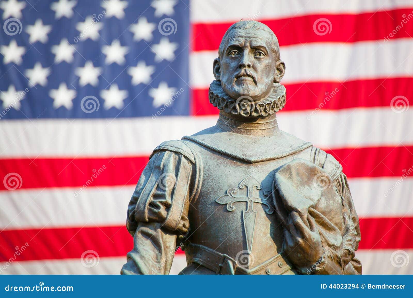 Statue of Pedro Menendez de Aviles, founder of St. Augustine, Florida
